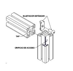Sujetadores estándar para perfil bosch